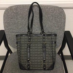 COACH Black/Gray Shoulder Bag